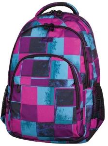 b3b9314c908f6 CoolPack PLAID Różowo Niebieskie Kwadraty Basic 27L plecak szkolny