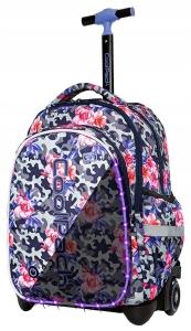 1a63c305a53f9 CoolPack LEDPACK CAMO ROSES Junior 34l świecący plecak szkolny na kółkach  A28209
