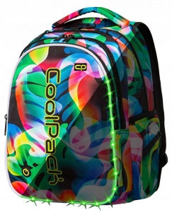 3660da7cc3673 CoolPack RAINBOW LEAVES LEDPACK plecak szkolny, młodziezowy, sportowy, z  oświetleniem LED A21210