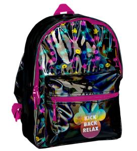 824350f1ec8d7 Plecak młodzieżowy szkolny Vintage czarny z efektem hologramu DMLS-770