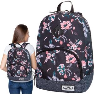 48156c8315c57 CoolPack DARK ROMANCE CLASSIC Vintage 20l plecak szkolny, młodzieżowy,  sportowy, czarny w kwiaty