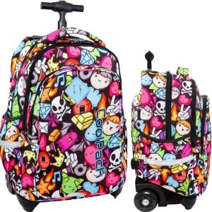 a6a07461a726e CoolPack DOODLE Junior 34l plecak szkolny na kółkach w gryzmoły B28040