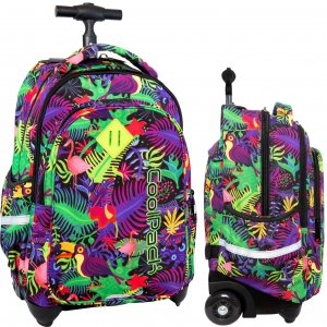 92f06c5392de1 CoolPack JUNGLE Junior 34l plecak szkolny na kółkach tropikalne wzory B28041