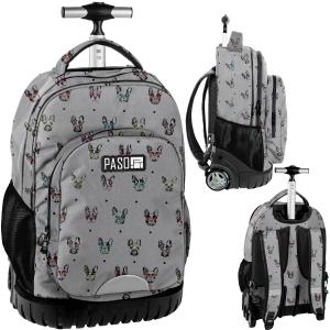 8f2e0a0e5d6eb Młodzieżowy plecak szkolny na kółkach PASO buldożek - PPBB19-1231