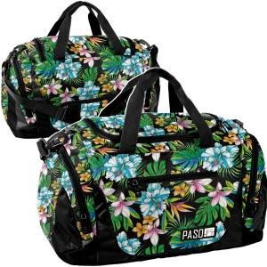 91d92cb86094c Torba sportowa podróżna basen fitness trening tropikalne kwiaty UNIQUE  PPLH19-019