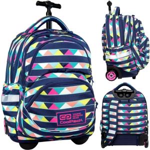 f3e9338d52f22 CoolPack CANCUN kolorowe trójkąty STARR 27l plecak szkolny na kółkach B35101