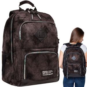14edc2c818f1f Plecak młodzieżowy CoolPack UNIT DIAMOND BLACK brązowy