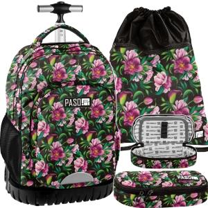 99a5a9c5b9632 Zestaw młodzieżowy 3-elementowy PASO, plecak szkolny na kółkach, piórnik,  worek,