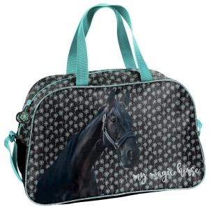 c23e1a0acfc4c Torba dziecięca sportowa dla dziewczynki z koniem, koń, konie PP19KN-074