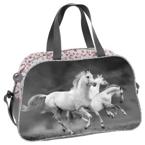 99a7de16781a0 Torba dziecięca sportowa dla dziewczynki z koniem