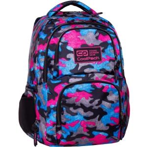 e0cacc6d195bf CoolPack CAMO PINK Fusion plecak szkolny, młodziezowy, sportowy, zielone  moro B34093