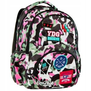 5b4a6cb733b9f CoolPack Camo Pink Badges Dart L plecak szkolny