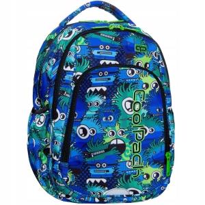 5c1fa9e61be07 Plecak szkolny CoolPack Wiggly Eyes Blue Strike S dla chłopaka niebieski w  kolorowe potworki B17034