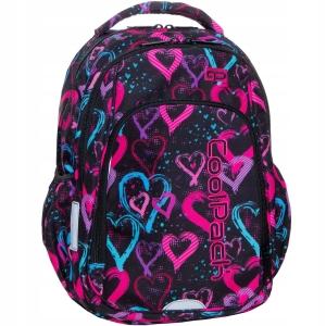 031029f12a637 Plecak szkolny CoolPack Drawing Hearts Strike S dla dziewczyny czarny w  serca serduszka B17038