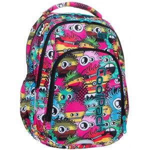 4d395b3fd8120 Plecak szkolny CoolPack Wiggly Eyes Pink Strike S dla dziewczyny kolorowe  potworki B17047