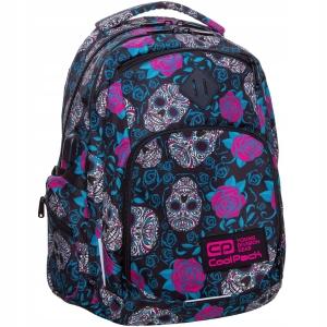 500daca92f7d9 Plecak szkolny CoolPack Break Skulls   Roses dla dziewczyny czarny w róże i  czaszki B24049