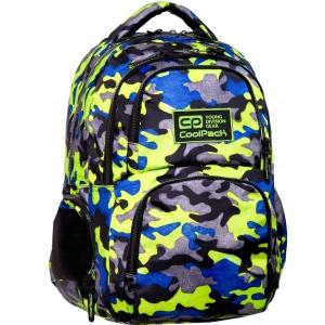 0bd0226fb0221 Plecak młodzieżowy CoolPack Camo Fusion Yellow dla chłopaka moro neon B34094