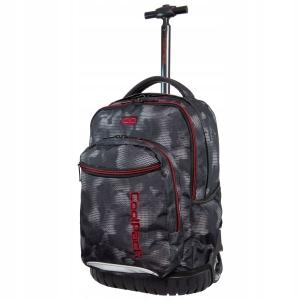 0704774f1b2b2 CoolPack Swift Misty Red plecak szkolny na kółkach dla chłopaka szara mgła  B04006