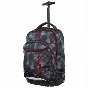 4a5de0c46b7b1 CoolPack Swift Misty Red plecak szkolny na kółkach dla chłopaka szara mgła  B04006