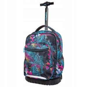 44112cba592fc CoolPack Swift Vibrant Bloom plecak szkolny na kółkach dla dziewczyny  fluorescencyjne kwiaty B04017