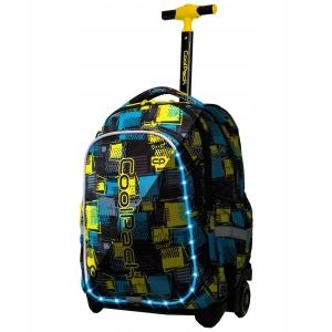 1fb2bbb52e6d5 CoolPack CP JUNIOR SQUARES - KWADRATY Świecący plecak szkolny na kółkach  A28213