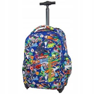 01e86c9d7678b CoolPack Plecak na kółkach Junior Football Cartoon dla chłopaka kreskówka z  piłką nożną B28036