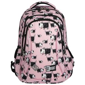c966d7bd9570c Plecak szkolny St.Right dla dziewczynki różowy plecak w pieski BP-26 DOGS