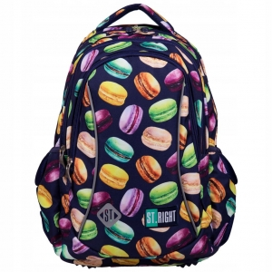 a478057e3b779 Plecak szkolny St.Right dla dziewczynki w małe słodkie ciasteczka -  makaroniki BP-26