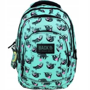 6bf59f96888cb Plecak szkolny BackUP dla dziewczyny leniwce PLB2A21