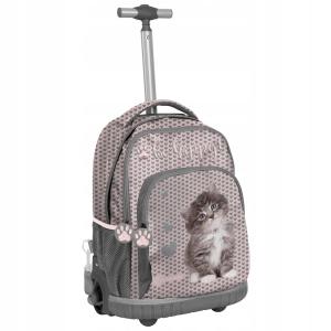 96fd80d122617 Plecak szkolny na kółkach Rachael Hale z ślicznym małym kotkiem dla  dziewczynki RLD-887