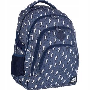 aaeaf9d5e2bac Plecak szkolny młodzieżowy HEAD dla dziewczyny granatowy w błyskawice HD-335
