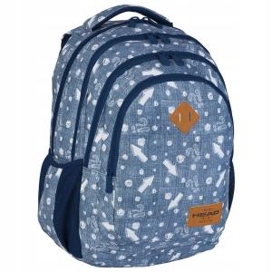 cb70b5dd661a0 Plecak szkolny młodzieżowy HEAD dla dziewczyny STRZAŁKI JEANS HD-345