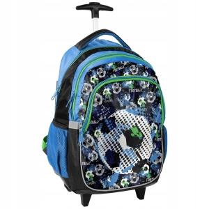 1d01c0792299f Plecak szkolny na kółkach dla chłopaka piłka nożna football 18-997FT