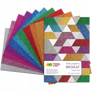 Happy Color blok Brokat format A4 - 10 brokatowych kartek HA-3815-2030-BR
