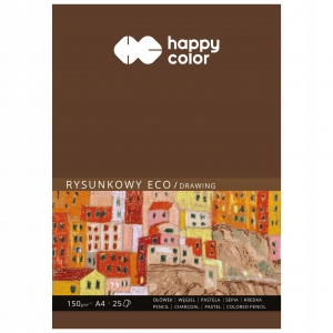 Blok rysunkowy eco Happy Color format A4 - 25 kartek HA-3715-2030-A25