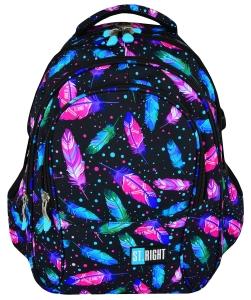 2025e709ea435 RIGHT BP-01 FEATHERS KOLOROWE PIÓRKA Plecak Młodzieżowy Szkolny