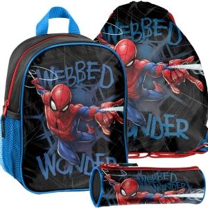 6cdfa29237f1d Zestaw szkolny 3 elementowy niebieski Spider-man SPL-303