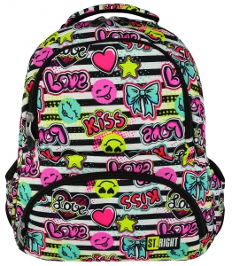 3fc22d852e804 ST.RIGHT BP-07 KISS   LOVE Plecak Młodzieżowy
