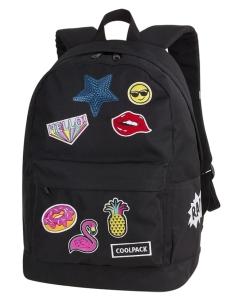 c0b193f12928a CoolPack BADGES Cross plecak szkolny, młodziezowy, vintage, naszywki 93873CP