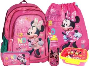 751488bf7ab33 ZESTAW 5-elementowy MYSZKA MINNIE PLECAK SZKOLNY licencja Disney DML-081