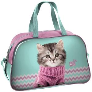 19dbe1ac410ee Torba dziecięca sportowa z kotkiem