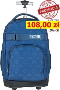 3aa13ae545c0c Młodzieżowy plecak szkolny na kółkach Unique PASO - 17-1230 UN Piłka,  football