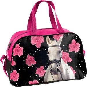 68924b9da31dc Torba dziecięca sportowa z koniem, koń, konik w kwiaty 18-074 HR