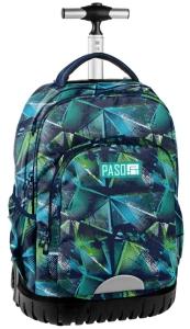 5bb2b3a70a6c2 Młodzieżowy plecak szkolny na kółkach Unique PASO - 18-1231 RG Kaledoscope