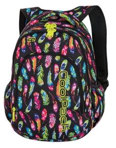 fbccee9cbfc24 CoolPack FEATHERS + TORBA TERMICZNA Prime plecak szkolny, młodzieżowy,  kolorowe piórka 86165CP (A233