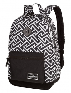 8e9e2a3fff636 CoolPack BLACK   WHITE TRIBAL Grasp plecak szkolny