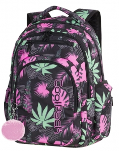 Plecak młodzieżowy CoolPack Urban Pink Motion czarno różowy