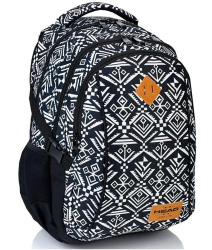 493952fb0458b Plecak szkolny młodzieżowy HEAD czarno-biały dla dziewczyny HD-74 ...