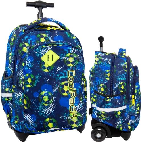 47c1df0479000 CoolPack FOOTBALL BLUE Junior 34l plecak szkolny na kółkach piłka nożna  B28037