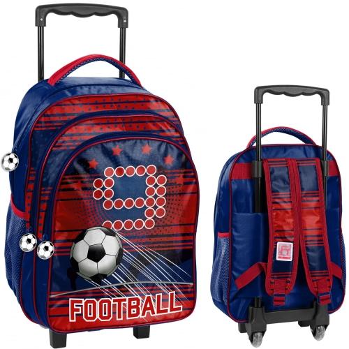 12ea70803382c Plecak szkolny na kółkach piłka nożna, football PP19FT-300 - plecaki ...